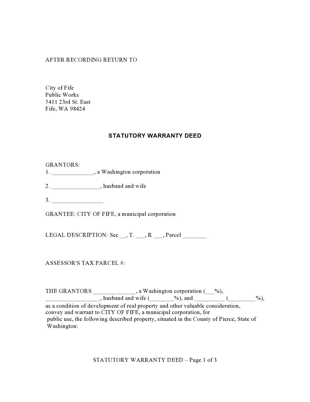 Free warranty deed form 16