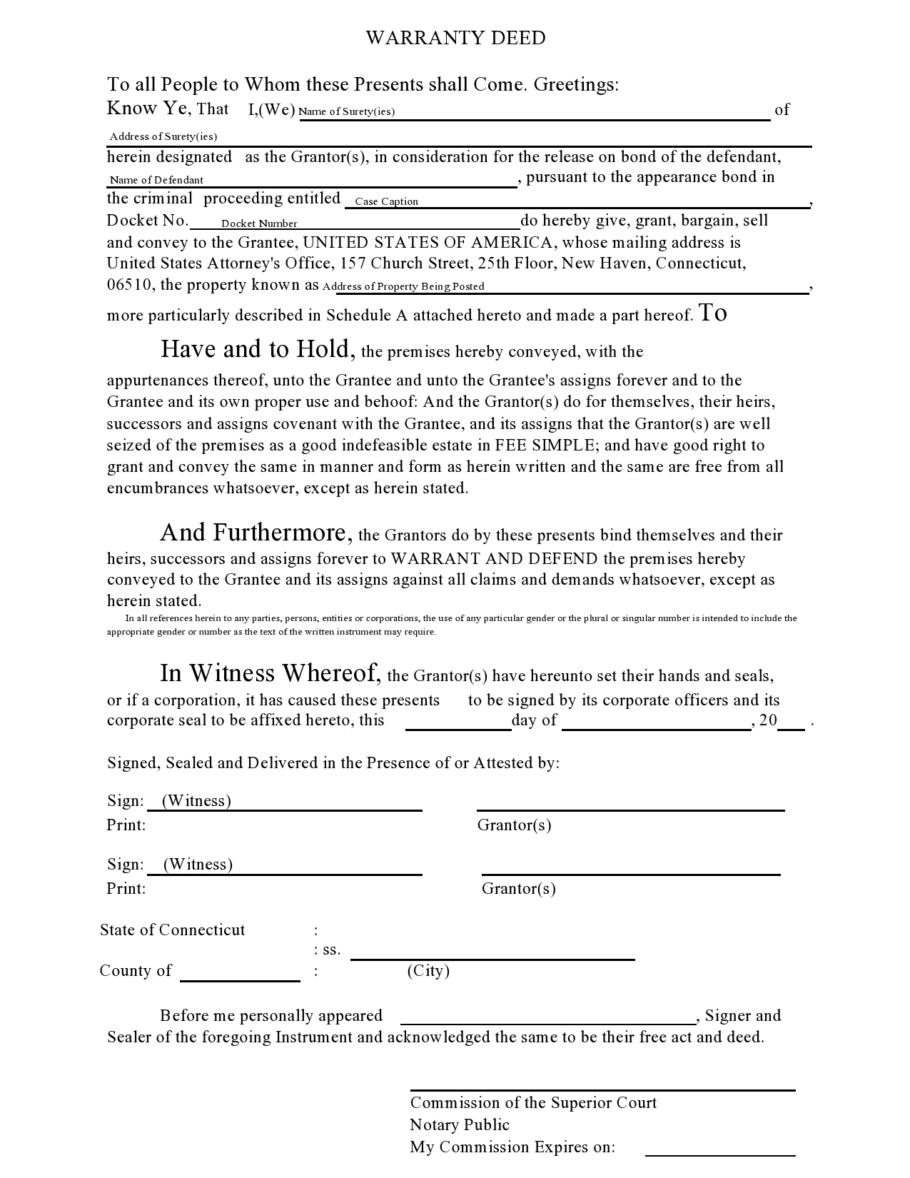Free warranty deed form 17