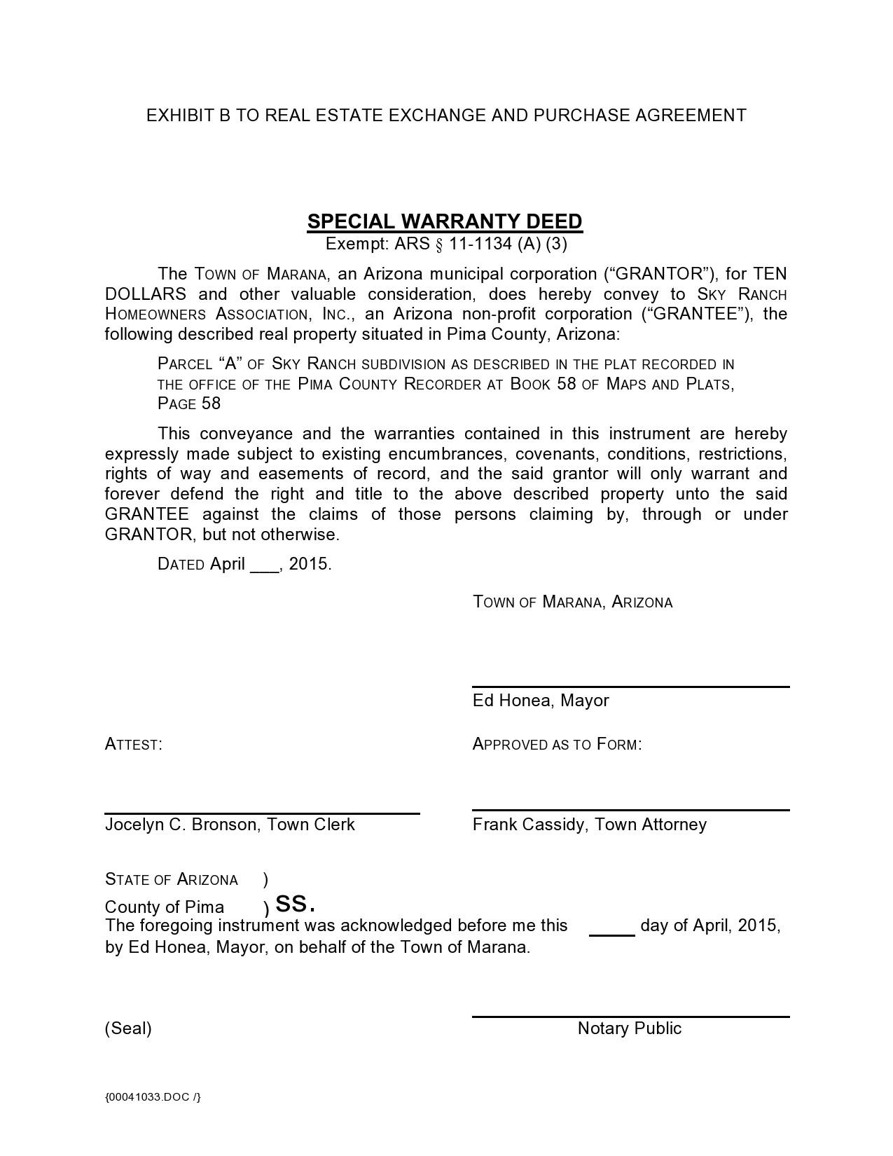 Free warranty deed form 18