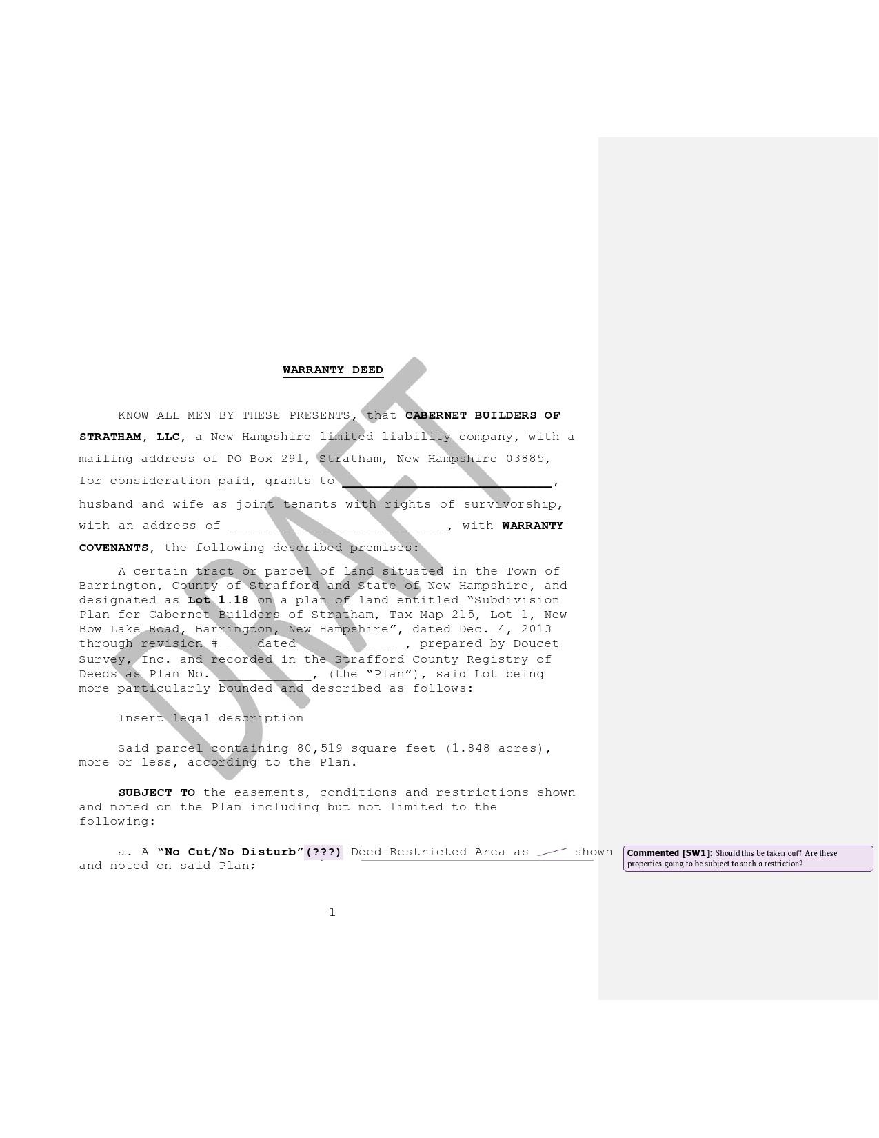 Free warranty deed form 20