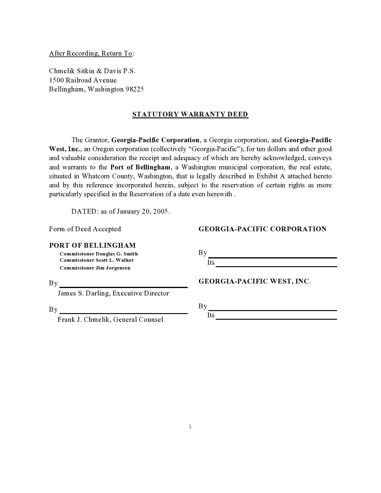 Free warranty deed form 22