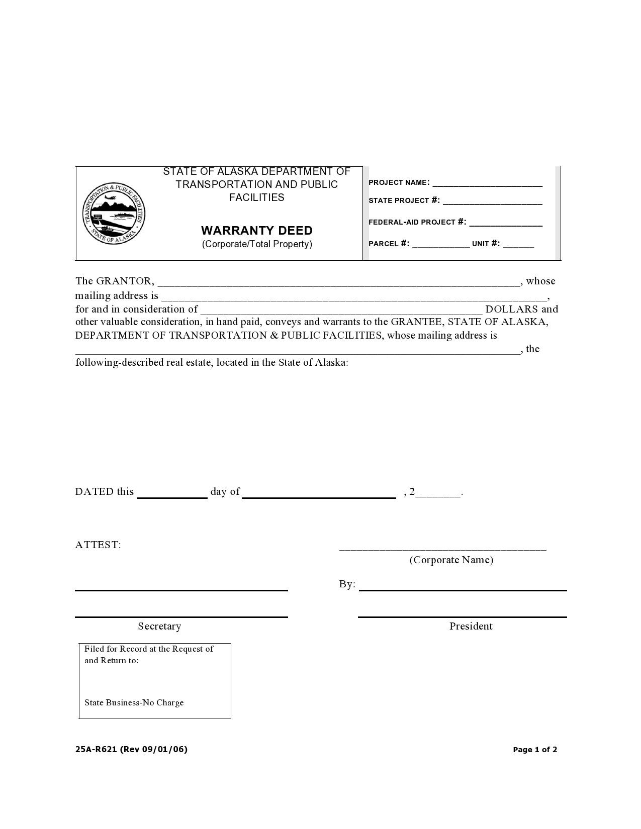 Free warranty deed form 31