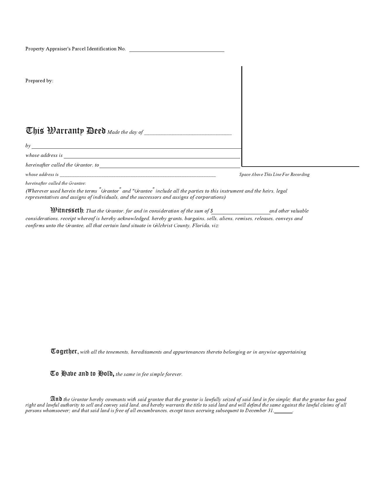 Free warranty deed form 33