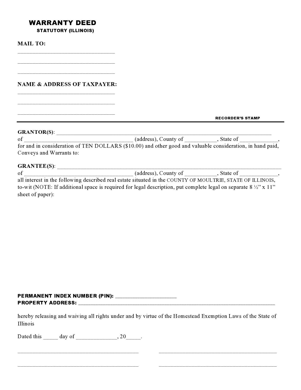 Free warranty deed form 34